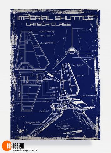Placa decorativa Imperial Shuttle - Azul Material: Metal Tamanho: 20 cm X 29 cm Preço: 36,90