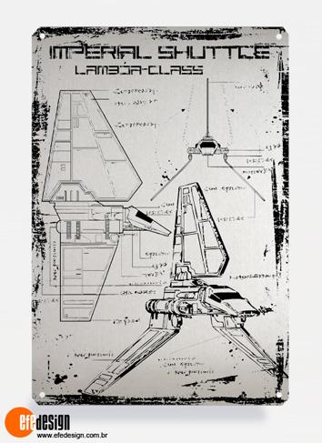 Placa decorativa Imperial Shuttle - Prata Material: Metal Tamanho: 20 cm X 29 cm Preço: 29,90
